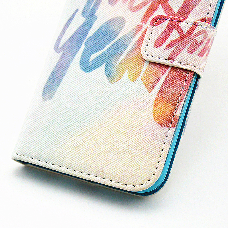 Lovely Painted Stand  Flip Wallet Card Pockets Phone Case Cover for Samsung S6 Edge Plus - Lucky