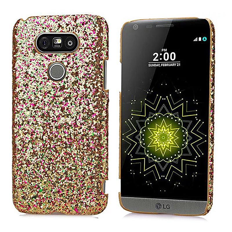 Fashion Luxury Glitter Shinning Back Cover Case Skin for LG G5 - Golden