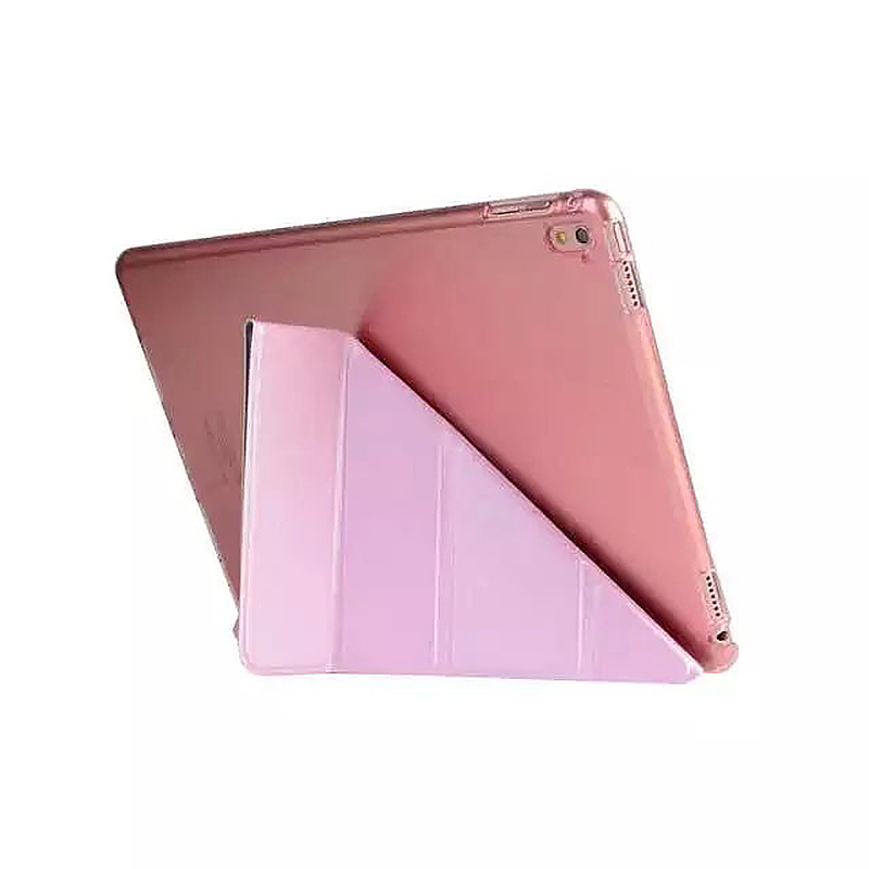 9.7 Inch Transformers PU Leather Magnetic Smart Stand Cover Case for iPad Pro - Pink