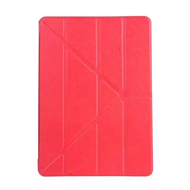 9.7 Inch Transformers PU Leather Magnetic Smart Stand Cover Case for iPad Pro - Red