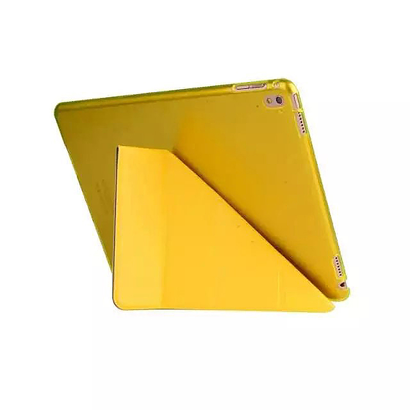 9.7 Inch Transformers PU Leather Magnetic Smart Stand Cover Case for iPad Pro - Yellow