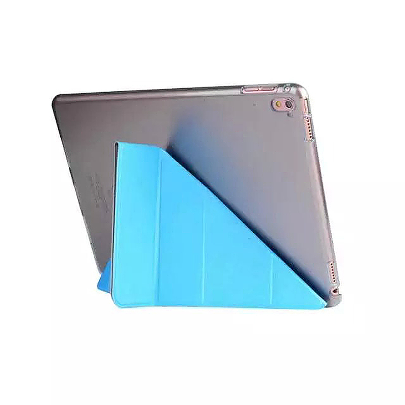 9.7 Inch Transformers PU Leather Magnetic Smart Stand Cover Case for iPad Pro - Blue