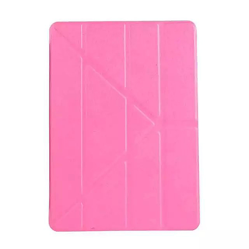 9.7 Inch Transformers PU Leather Magnetic Smart Stand Cover Case for iPad Pro - Rose Red