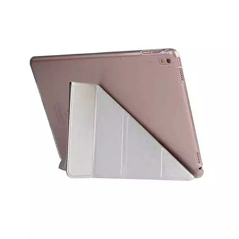 9.7 Inch Transformers PU Leather Magnetic Smart Stand Cover Case for iPad Pro - Silver
