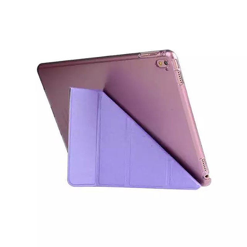 9.7 Inch Transformers PU Leather Magnetic Smart Stand Cover Case for iPad Pro - Purple