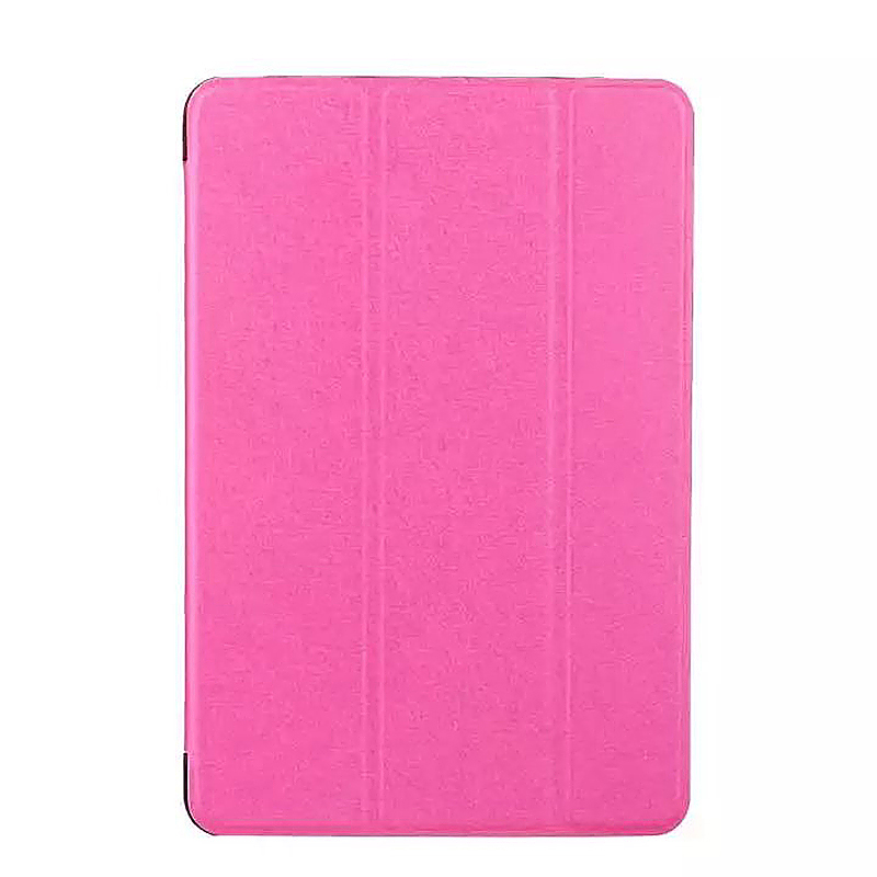 9.7 Inch Slim PU Leather Magnetic Tri-Fold Smart Stand Cover Case for iPad Pro - Rose Red