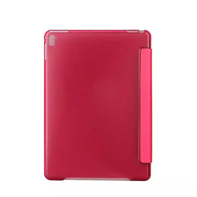9.7 Inch Slim PU Leather Magnetic Tri-Fold Smart Stand Cover Case for iPad Pro - Red