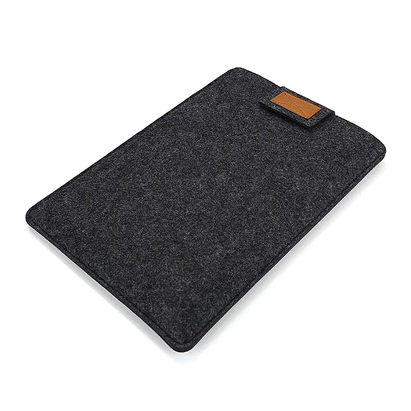 11 Inch Fashion Vertical Open Felt Sleeve Laptop Case Cover Bag for MacBook - Black