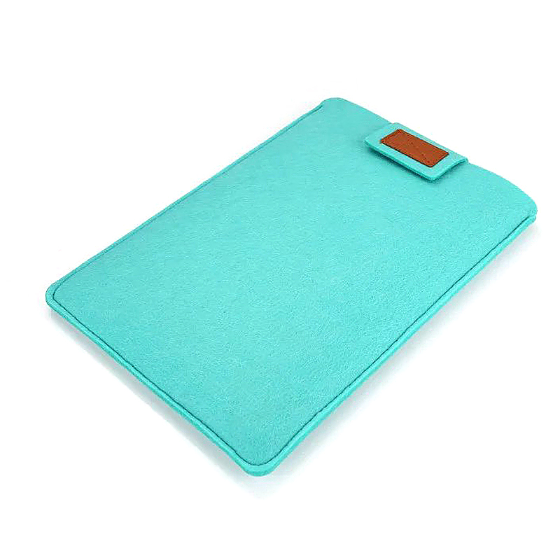 11 Inch Fashion Vertical Open Felt Sleeve Laptop Case Cover Bag for MacBook - Mint Green