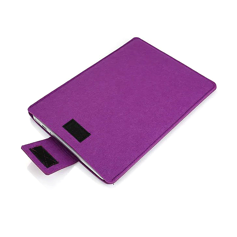 11 Inch Fashion Vertical Open Felt Sleeve Laptop Case Cover Bag for MacBook - Purple