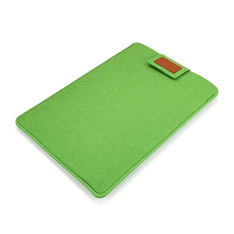 11 Inch Fashion Vertical Open Felt Sleeve Laptop Case Cover Bag for MacBook - Green