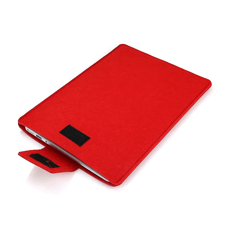 11 Inch Fashion Vertical Open Felt Sleeve Laptop Case Cover Bag for MacBook - Red