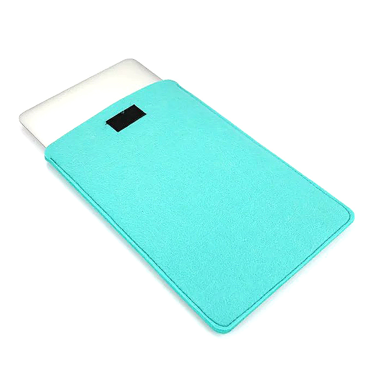 13 Inch Fashion Vertical Open Felt Sleeve Laptop Case Cover Bag for MacBook - Mint Green