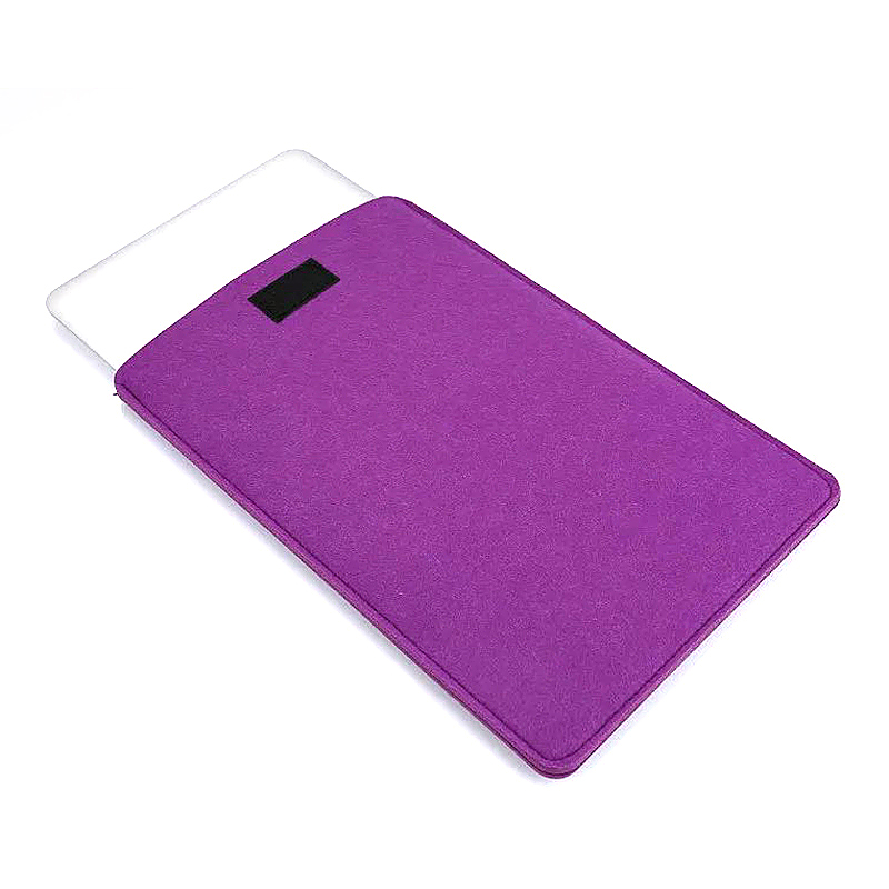 13 Inch Fashion Vertical Open Felt Sleeve Laptop Case Cover Bag for MacBook - Purple
