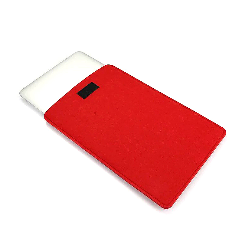 13 Inch Fashion Vertical Open Felt Sleeve Laptop Case Cover Bag for MacBook - Red