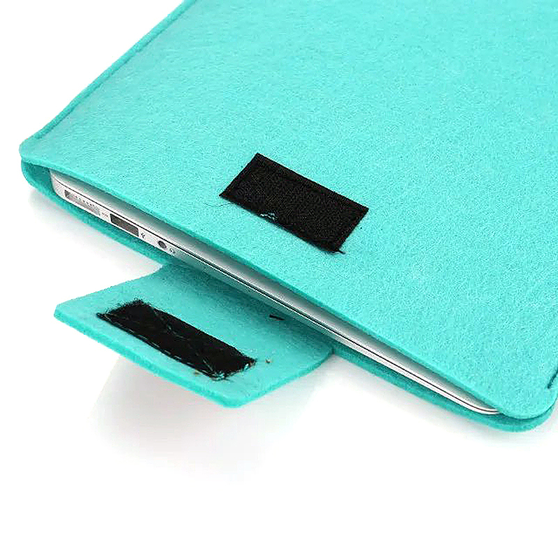 15 Inch Fashion Vertical Open Felt Sleeve Laptop Case Cover Bag for MacBook - Mint Green