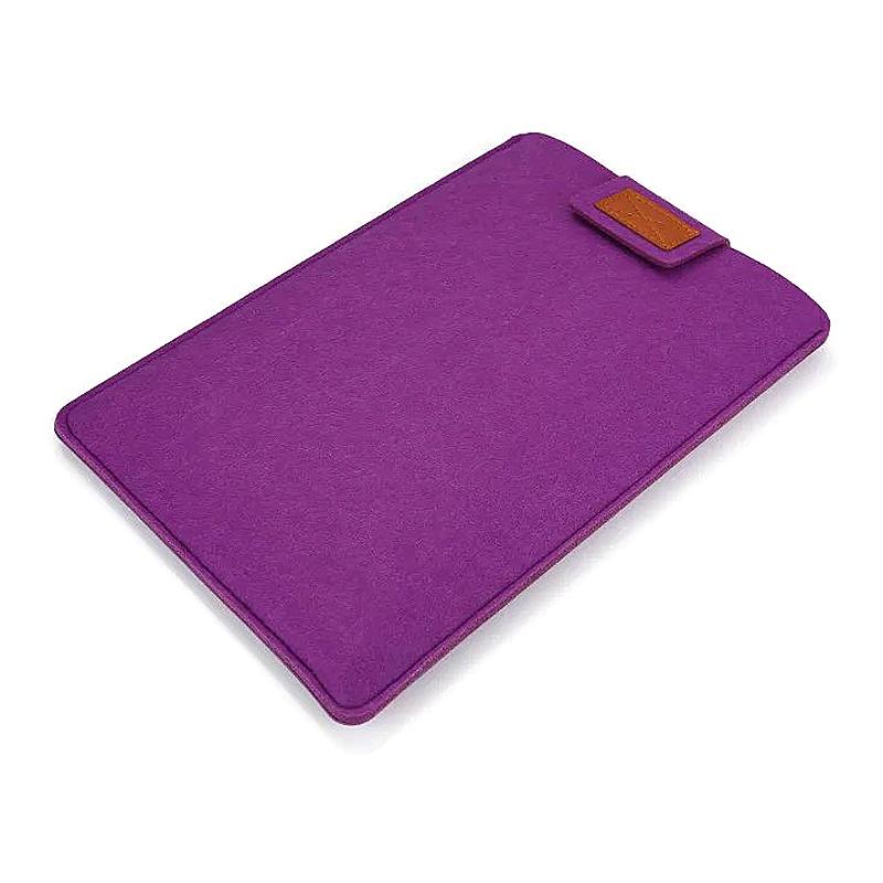 15 Inch Fashion Vertical Open Felt Sleeve Laptop Case Cover Bag for MacBook - Purple