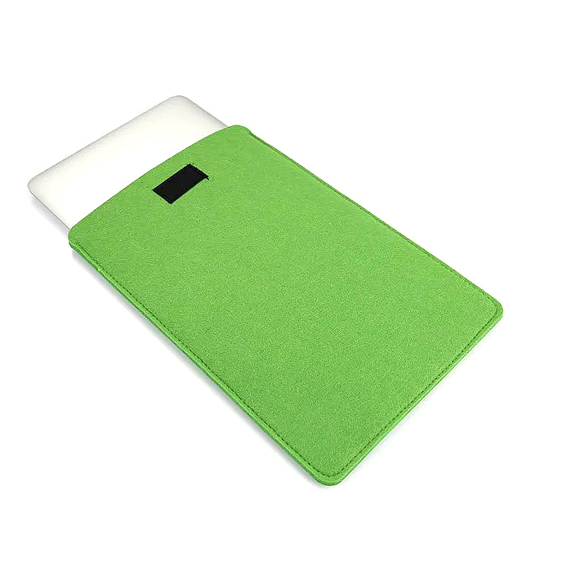 15 Inch Fashion Vertical Open Felt Sleeve Laptop Case Cover Bag for MacBook - Green