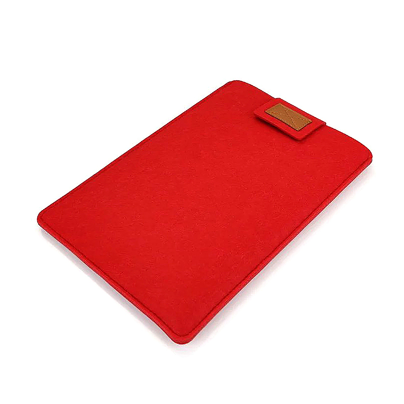 15 Inch Fashion Vertical Open Felt Sleeve Laptop Case Cover Bag for MacBook - Red