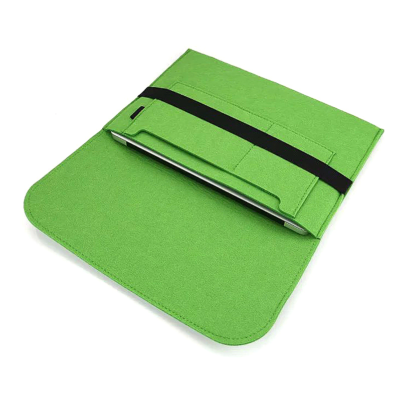 11 Inch Fashion Horizontal Open Felt Sleeve Laptop Case Cover Bag for MacBook - Green