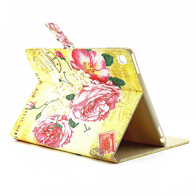 Vintage Blossom Flower Slim Flip Stand Leather Case with Card Slot for iPad Pro 9.7