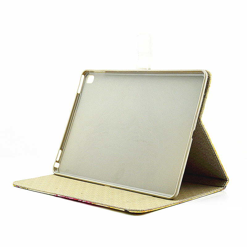 Vintage Slim Flip Stand Leather Case with Card Slot for iPad Pro 9.7 - Castle