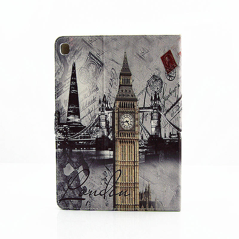 Vintage Slim Flip Stand Leather Case with Card Slot for iPad Pro 9.7 - Big Ben