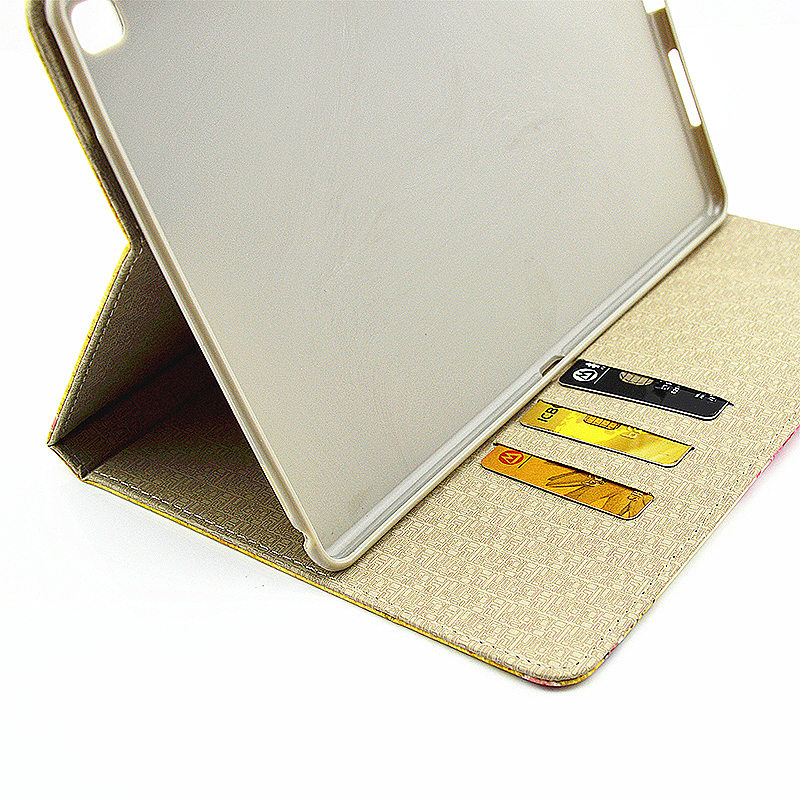 Vintage Slim Flip Stand Leather Case with Card Slot for iPad Pro 9.7 - Butterfly