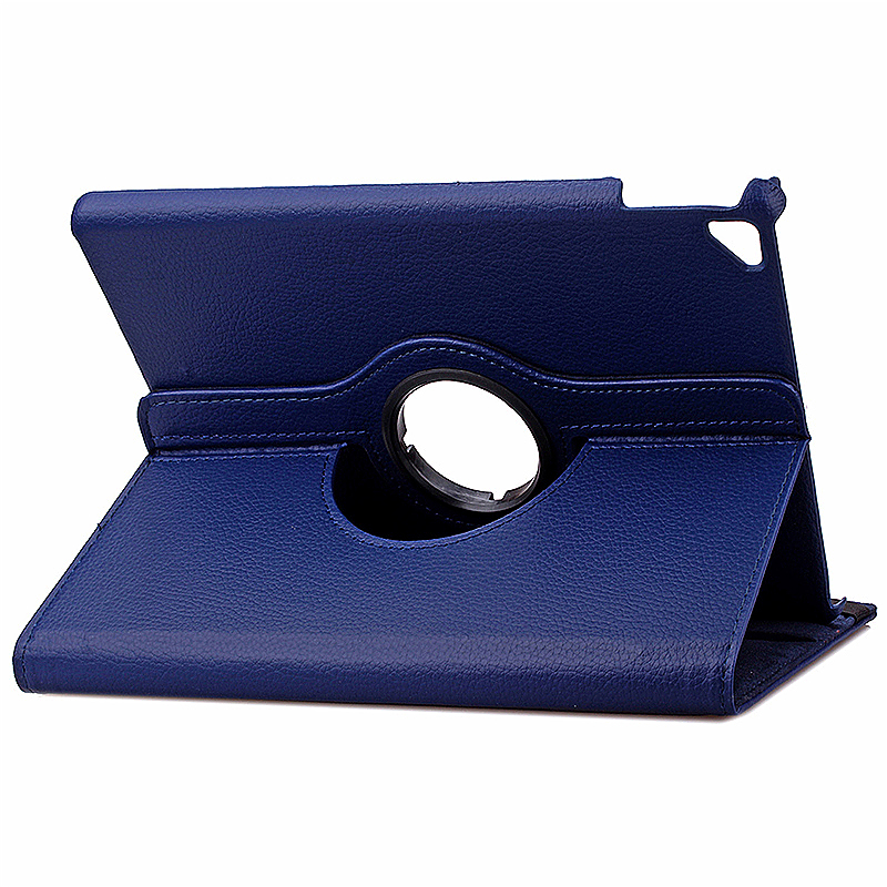 360 degree Rotating PU Leather Flip Stand Case Cover Skin for iPad Pro 9.7 - Navy Blue