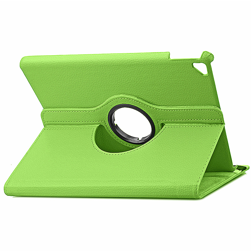 360 degree Rotating PU Leather Flip Stand Case Cover Skin for iPad Pro 9.7 - Green