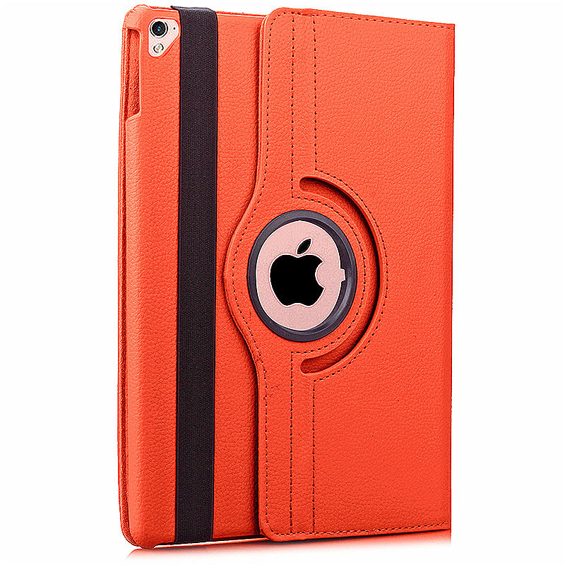 360 degree Rotating PU Leather Flip Stand Case Cover Skin for iPad Pro 9.7 - Orange