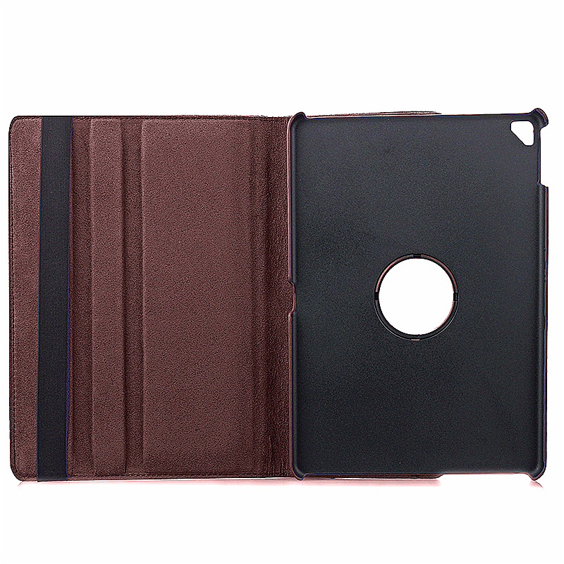 360 degree Rotating PU Leather Flip Stand Case Cover Skin for iPad Pro 9.7 - Brown