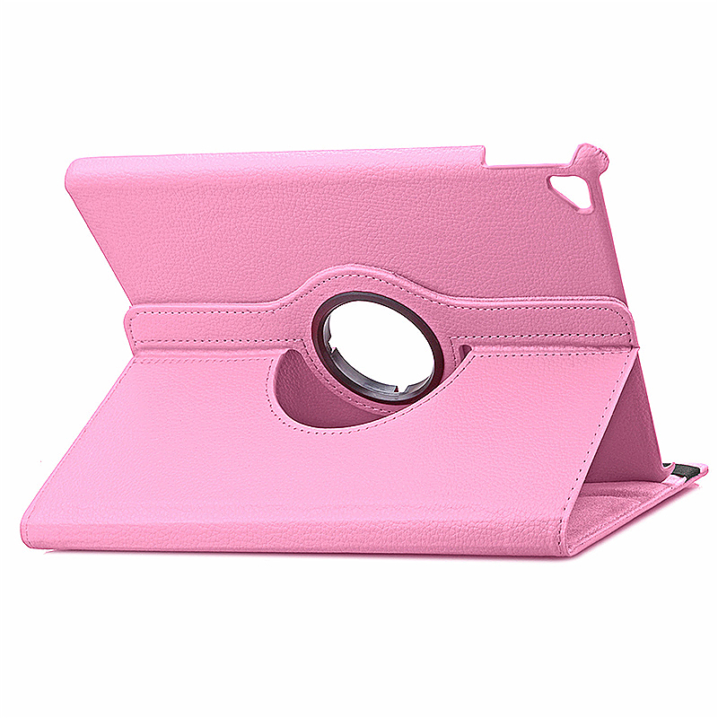 360 degree Rotating PU Leather Flip Stand Case Cover Skin for iPad Pro 9.7 - Pink