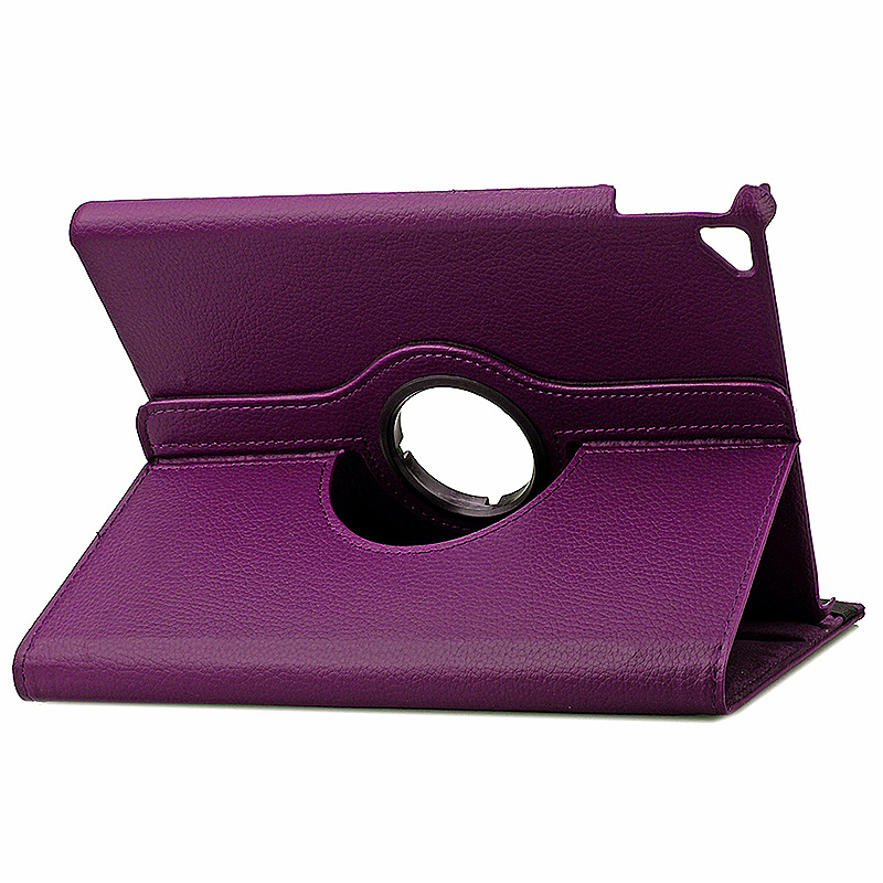 360 degree Rotating PU Leather Flip Stand Case Cover Skin for iPad Pro 9.7 - Purple