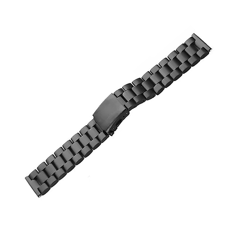 Three Beads Stainless Wrist Band Watchband Replacement for Fitbit - Black