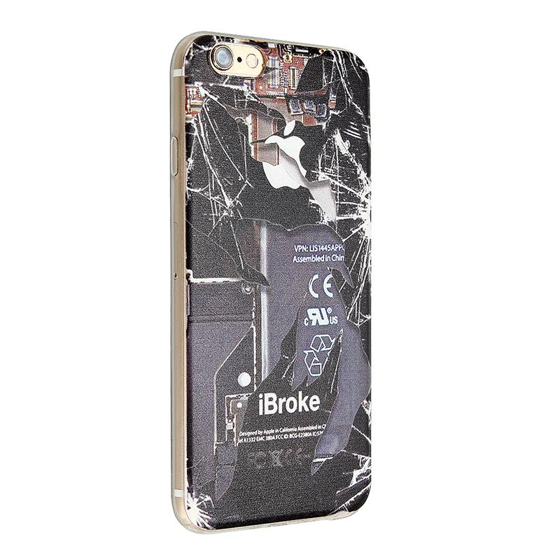 Slim Soft TPU Back Cover Case for Apple iPhone 6 - iBroke