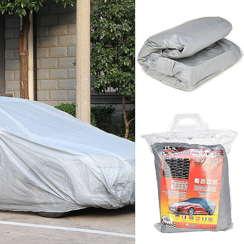 Universal Waterproof Breathable Full UV Protection Car Cover - Size M