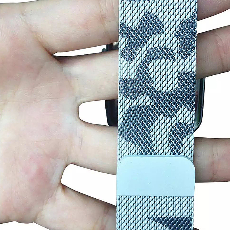 42mm Steel Military Army Magnetic Watchband Strap for Apple Watch iWatch - Camouflage Green