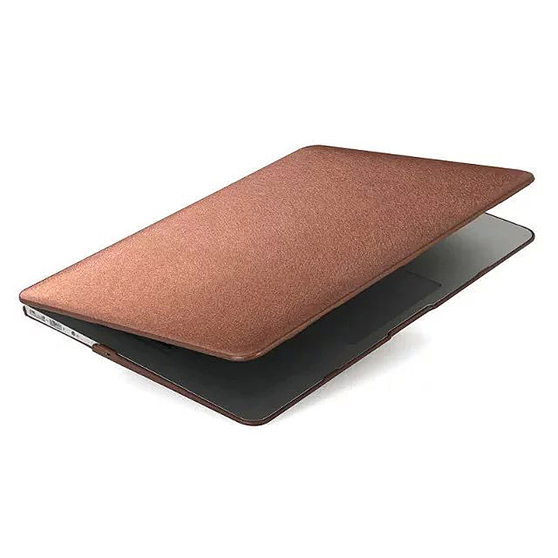 13 Inch Full Body Front + Back Slim Shell Protective Cover Case Skin for Macbook Air - Brown