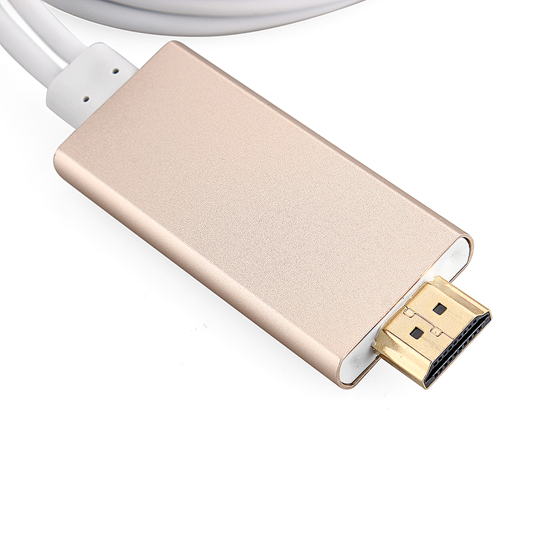 HDMI Cable Adapter to HDMI Cable Phone TV for iPhone 5s/6 Plus - Gold
