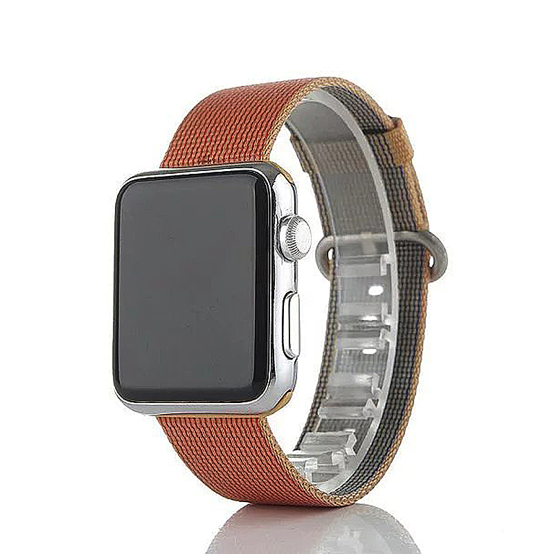 42mm Sports Nylon Strap Watchband for Apple Watch iWatch - Orange