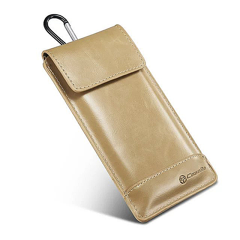 Caseme Fashion Vertical Belt Phone Pounch Case Cover Bag with Buckle Size XL - Khaki