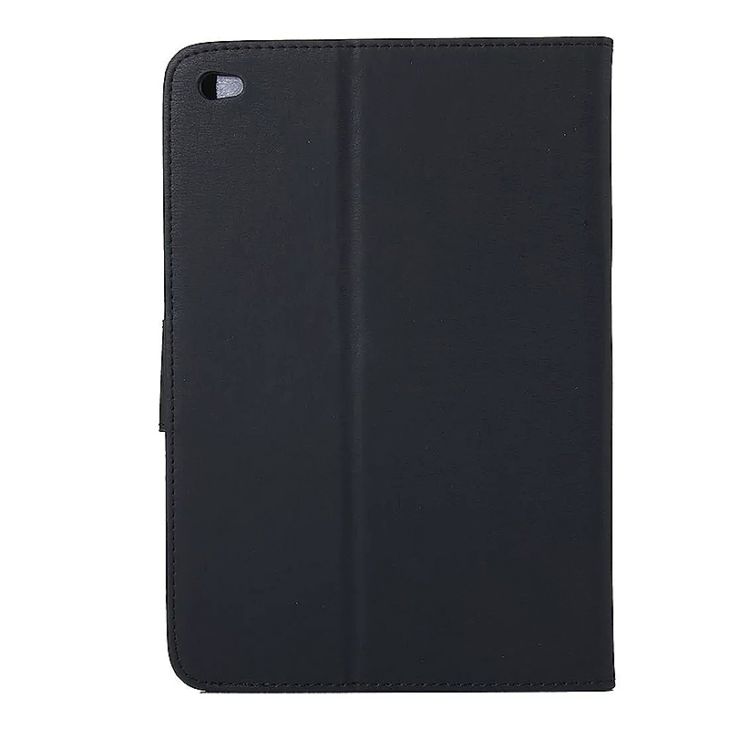 7.9 Inch PU Leather Embossing Foldable Stand Case Shell for iPad Mini 4 - Black