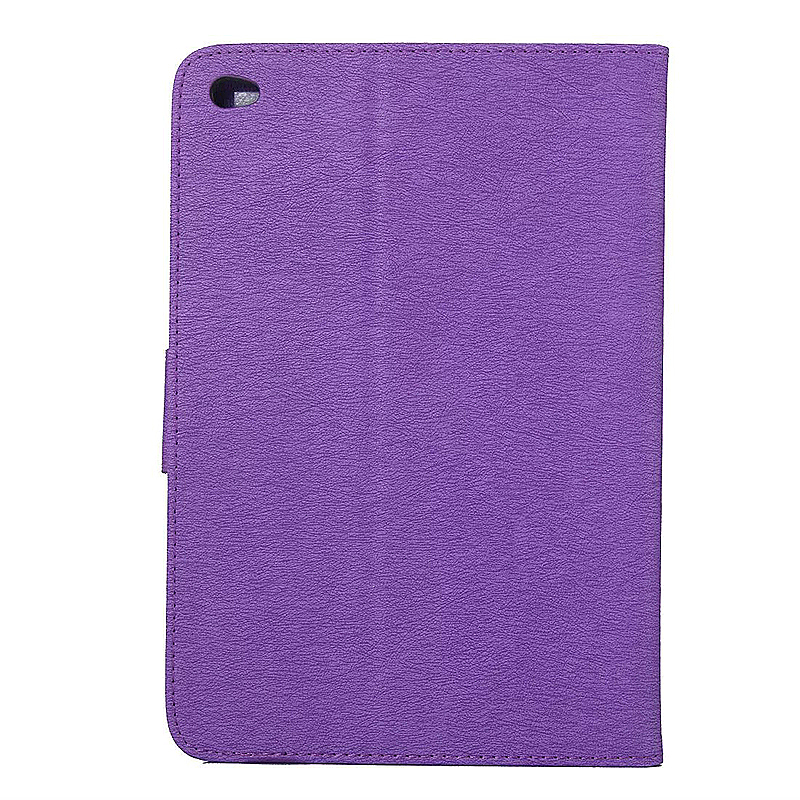 7.9 Inch PU Leather Embossing Foldable Stand Case Shell for iPad Mini 4 - Purple
