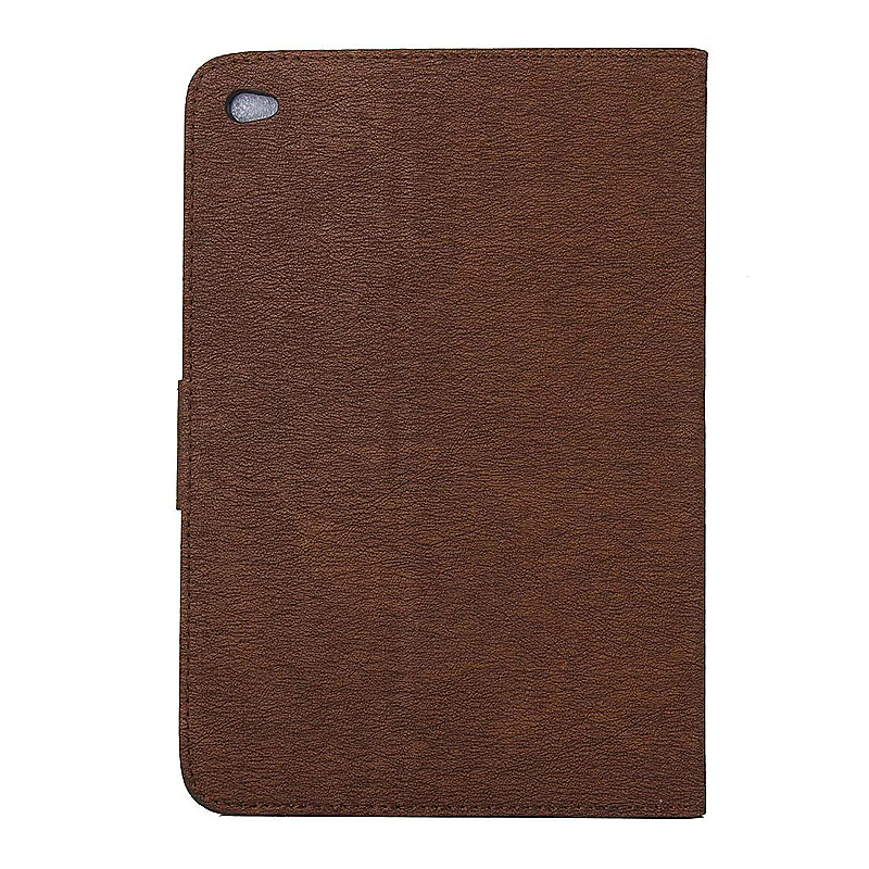 7.9 Inch PU Leather Embossing Foldable Stand Case Shell for iPad Mini 4 - Brown