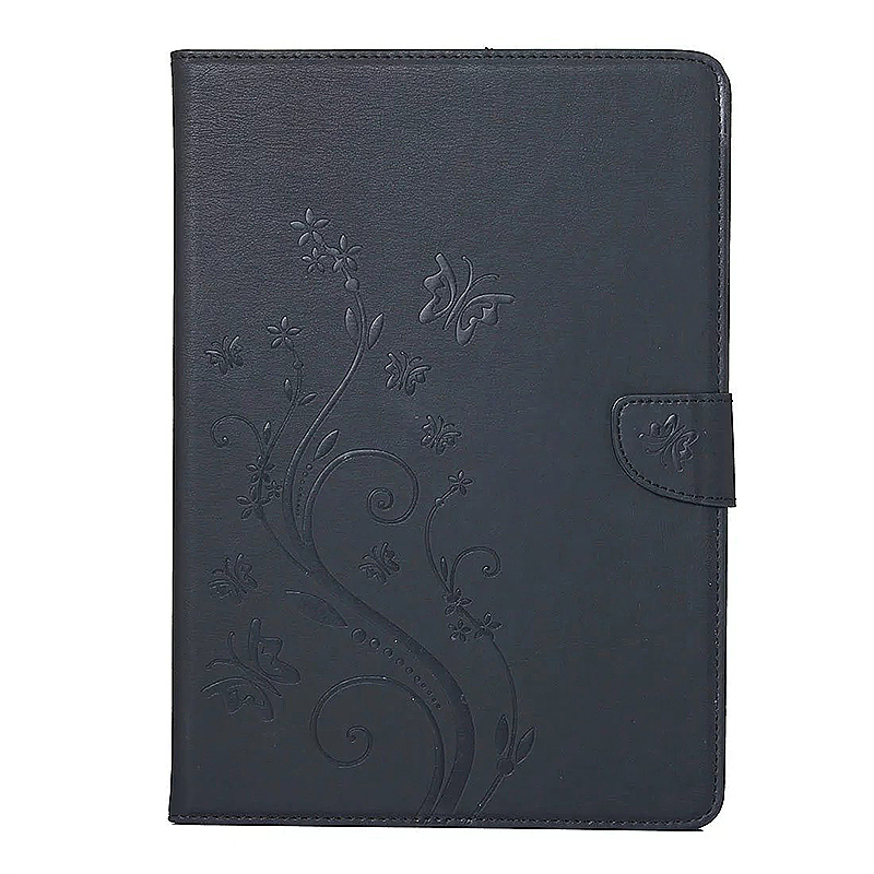 7.9 Inch PU Leather Embossing Foldable Stand Case Shell for iPad Mini 3 - Black