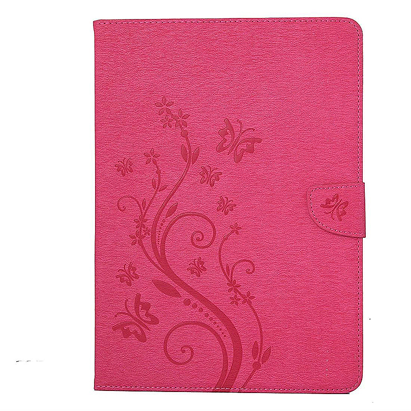 7.9 Inch PU Leather Embossing Foldable Stand Case Shell for iPad Mini 3 - Rose Red