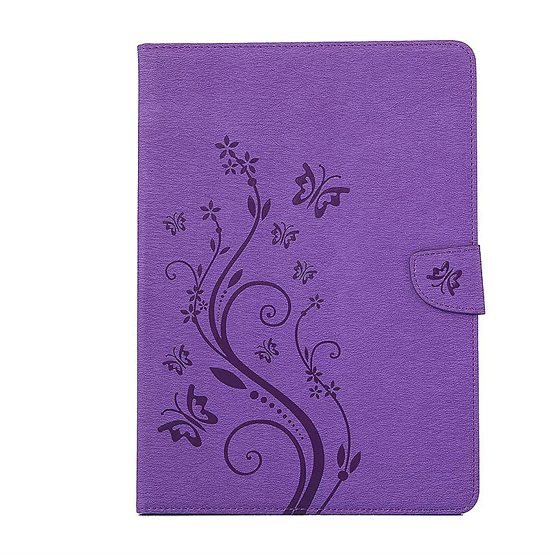 7.9 Inch PU Leather Embossing Foldable Stand Case Shell for iPad Mini 3 - Purple