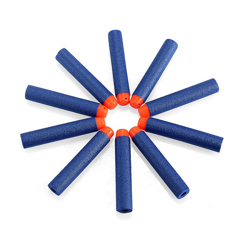 10PCS 7.2CM Soft Foam Bullet Darts for Nerf N-strike Elite Series toy Gun - Blue