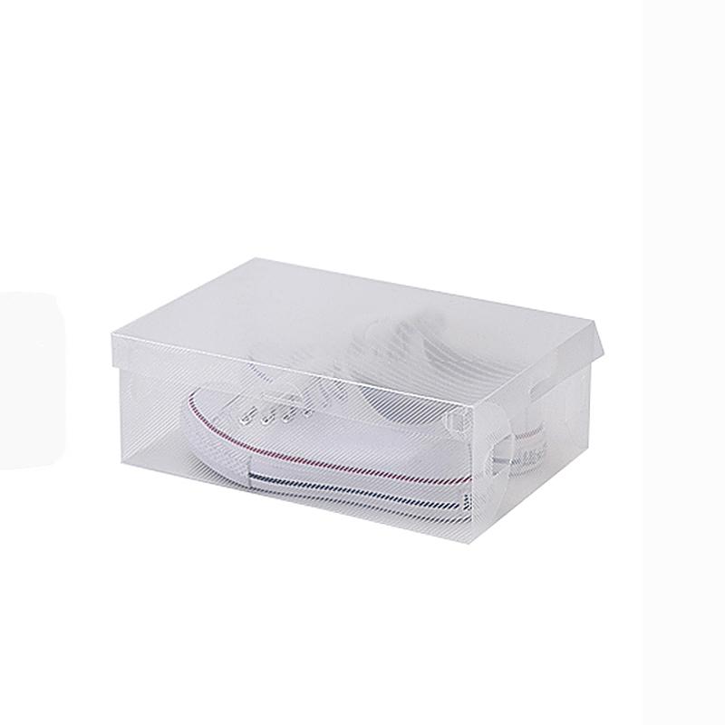 Ladies Man Shoe Trainers Boxes Storage Box Organizer Stackable - Transparent